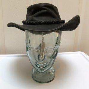 Will Conner Cov-ver Blk Leather Cowboy Hat Black